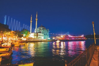 Cruise by Night on Bosphorus with a Traditional Show